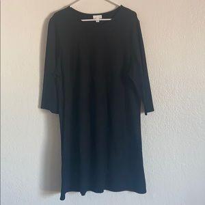 Petite J. Jill Ponte Knit Multiseamed Dress Sz XL